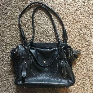 Leather Furla handbag